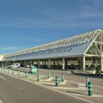 Departures drop off area at Palma airport