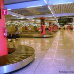 Baggage collection belts at Palma airport
