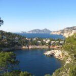 Secluded bay near the port of Andratx Majorca