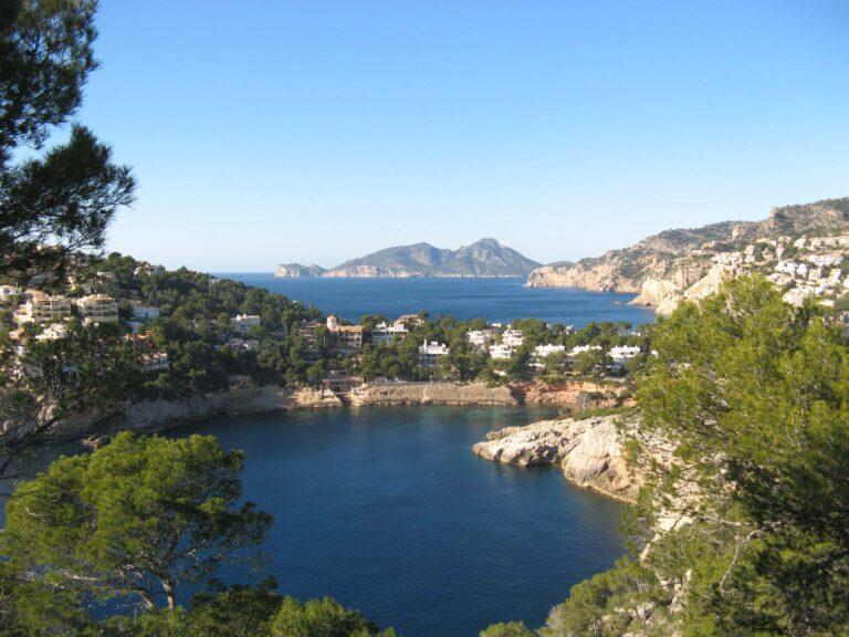 Secluded bay near the port of Andratx Majorca