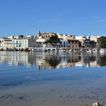 Bendinat harbour area of Porto Colom Majorca