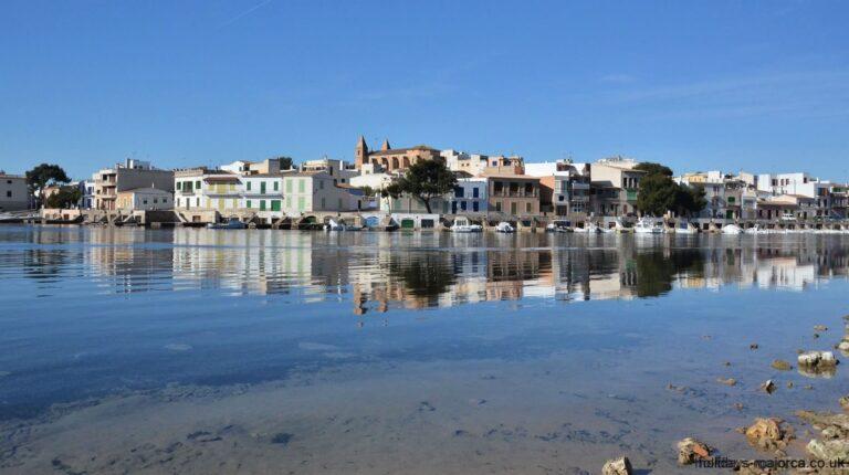 Bendinat harbour area of Porto Colom Majorca