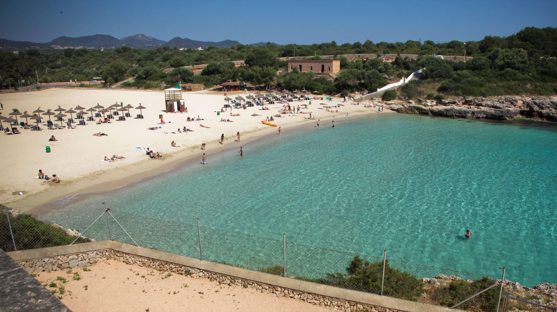 Cala Marcal beach in Porto Colom Majorca - Holidays Majorca