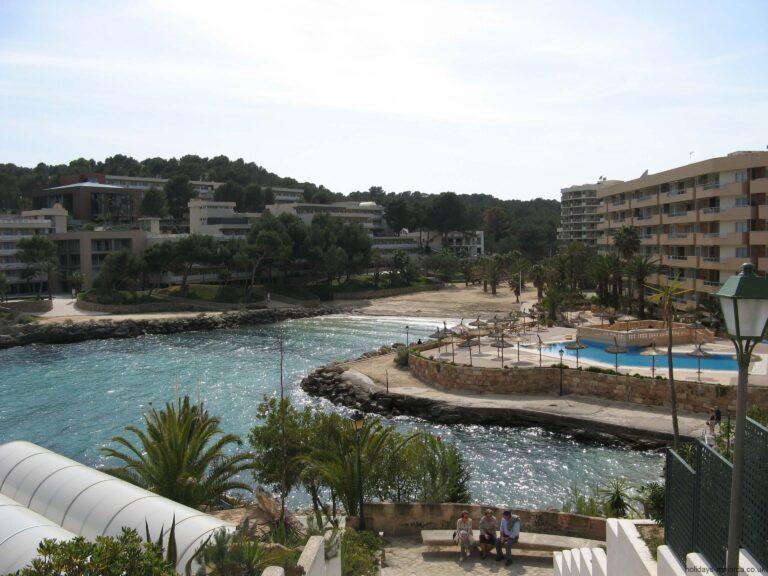 Cala Vinyes beach and hotels Majorca