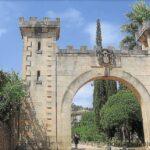 Entrance to Raixa gardens in Bunyola Majorca