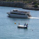Glass bottom boat and pedalo in Porto Cristo Majorca 02
