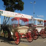 Horse drawn carriages in Sa Coma Majorca