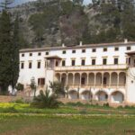 Long shot of the manor at Raixa gardens in Bunyola Majorca