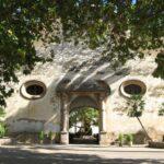 Main entrance gatehouse to the gardens of Alfabia Majorca