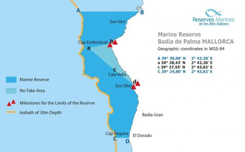 Palma bay marine reserve map