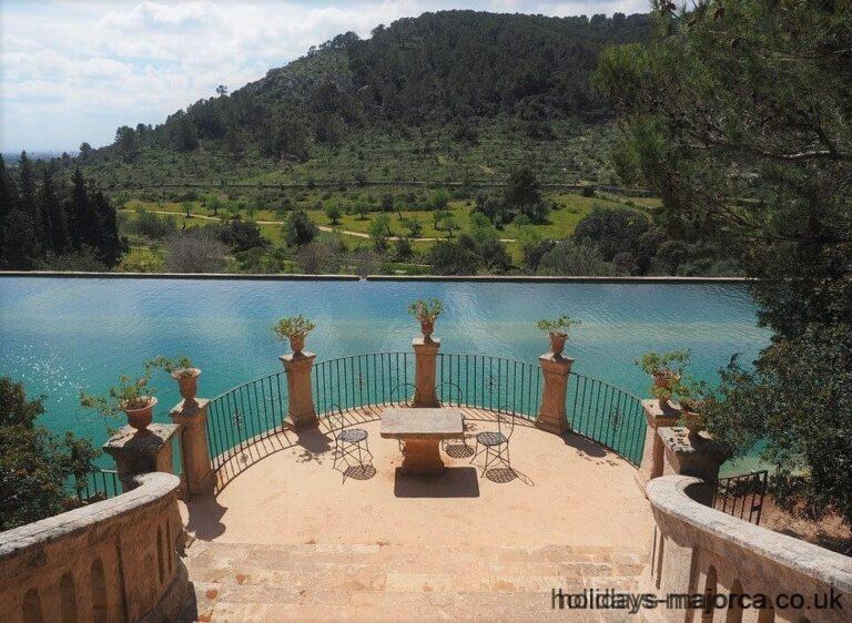 Raixa gardens water feature near Bunyola Majorca