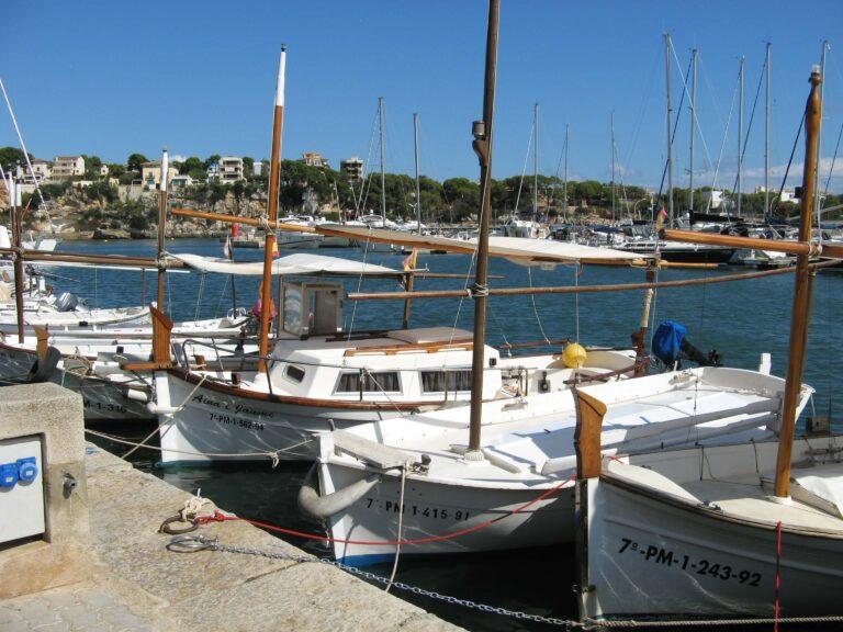 Small Majorcan boats at Porto Cristo Majorca
