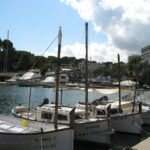 Small fishing boats in Porto Cristo Majorca