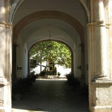 The entrance corridor at the gardens of Alfabia in Majorca