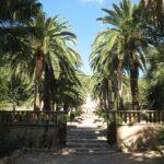 The entrance to the garden at Alfabia Majorca