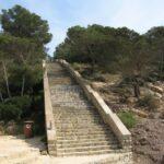 The long stairs to Cala Falco beach Majorca