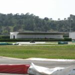 A kart racing on the Magaluf track Majorca
