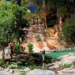 A waterfall at Golf Fantasia in Palma Nova Majorca