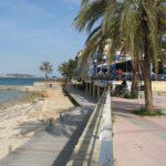 Beach gangway at Palma Nova beach Majorca