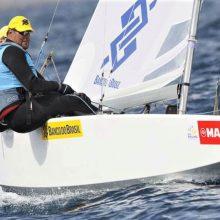 Boat sailing in the Princess Sofia Trophy Palma de Majorca
