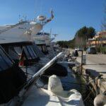 Boats moored in Santa Ponsa harbour Majorca