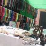 Bric-a-brac stall at Inca market Majorca