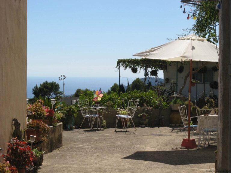 Cafe outside terrace area at Galilea Majorca