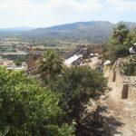 Capdepera fortress walls and surrounding Majorca countryside
