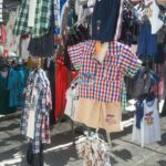 Childrens clothes for sale at Inca market Majorca