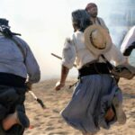 Christians and Moors fighting in the Soller festival Majorca
