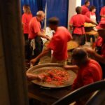 Cooks preparing dishes at the Cala Ratjada festival Majorca
