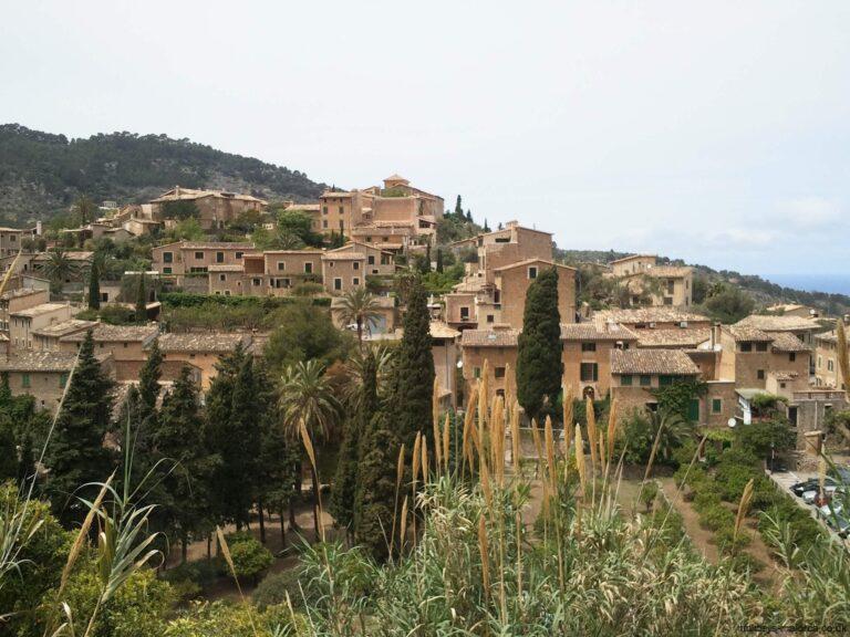 Deia's terraced houses in Majorca