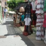 Dresses and handbags for sale at Inca market Majorca