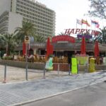 Entrace to the Happy Inn bar in Magaluf Majorca