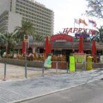 Entrace to the Happy Inn bar in Magaluf Majorca