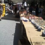 Handicraft stall at Inca market Majorca