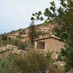 Houses on the hillsides in Deia Majorca