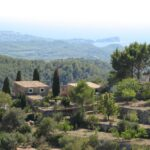 Houses on top of the mountains at Galilea Majorca