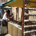 Jewellery stall at the medieval market at Capdepera Majorca