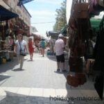 Leather compliments at Inca market in Majorca