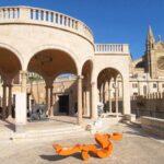 Orange Art Sculpture at the March Palace (Palacio March) Palma de Mallorca