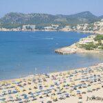 Peguera beach from high vantage point