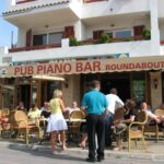 People gathering at the Pub Piano Bar in Magaluf Majorca