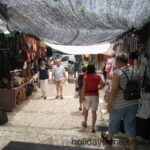 People shopping at Sineu street market in Majorca