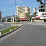 Road to the Britannia bar in Magaluf Majorca