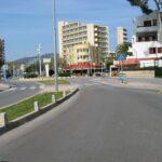 Road to the Britannia bar in Magaluf Majorca