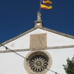 Round church window at Galilea Majorca