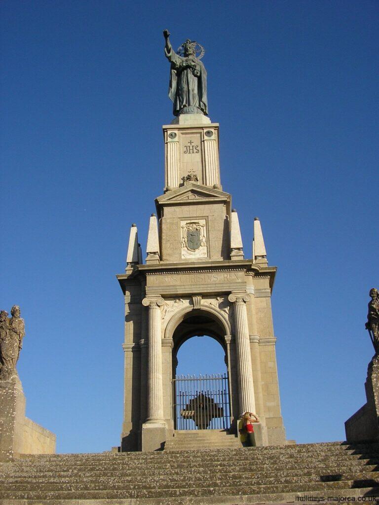 Sant Salvador monument and steps in Felanitx Majorca