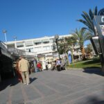 Shops and cafes at Santa Ponsa Majorca