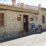 The cafe outside the church at Galilea Majorca